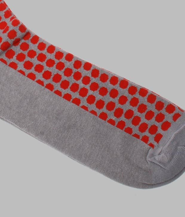 Flying Machine Dotted Design Pattern Socks