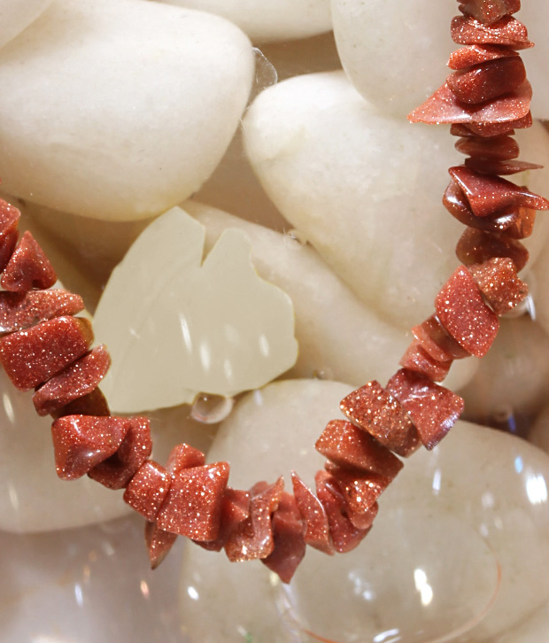 Freak Semiprecious Sunstones Necklace