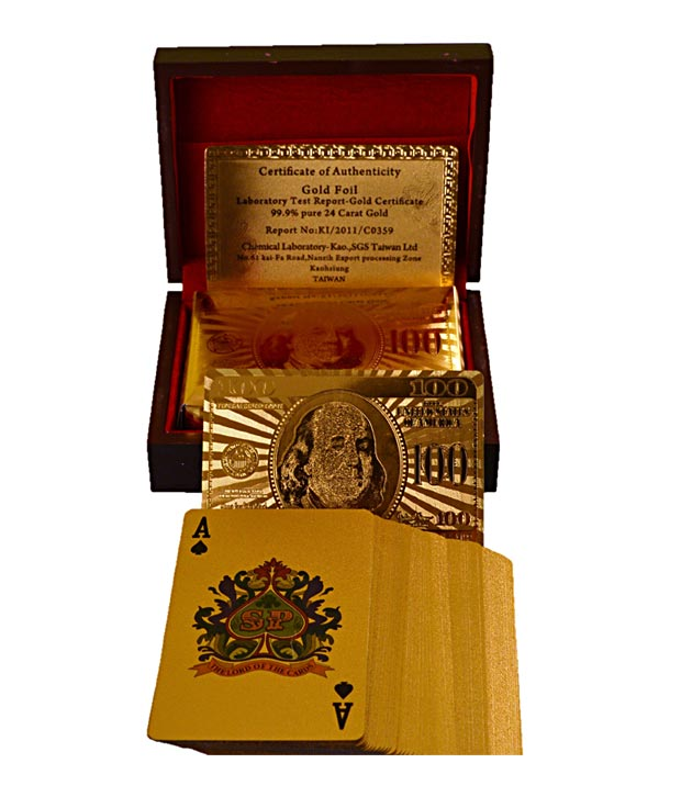 Ankit 24 Carat Gold Plated Playing Cards