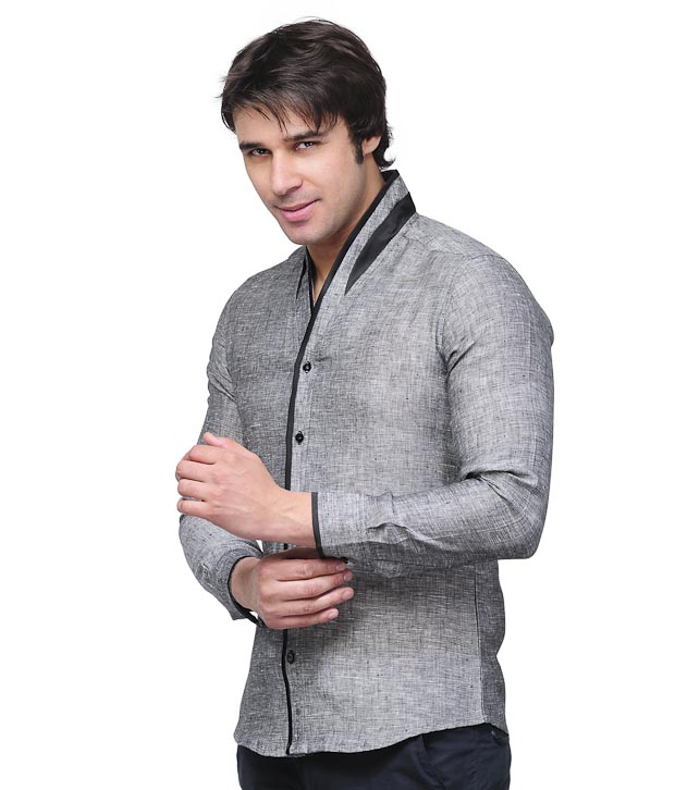 Invogue Dark Grey Shirt with Freebie Belt