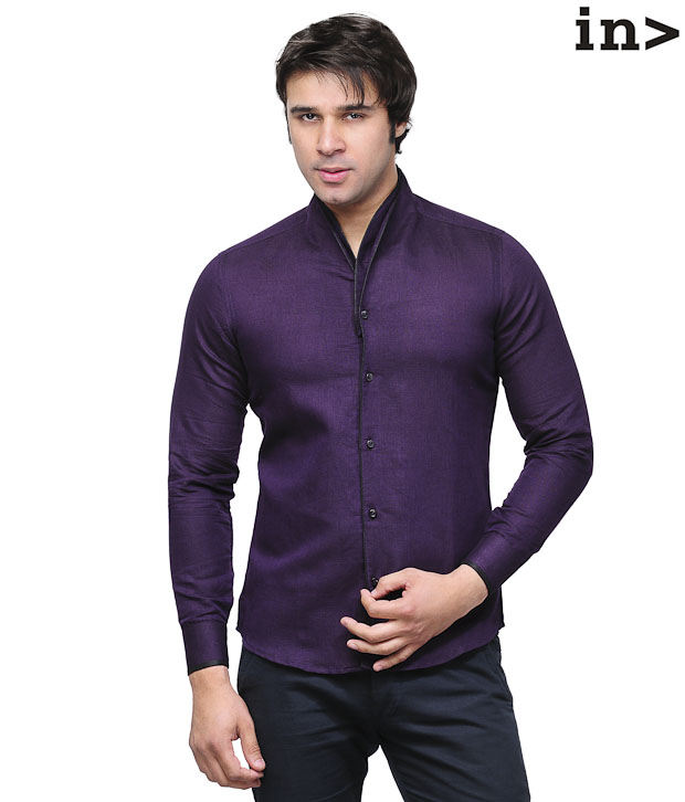 Invogue Trendy Dark Purple Shirt