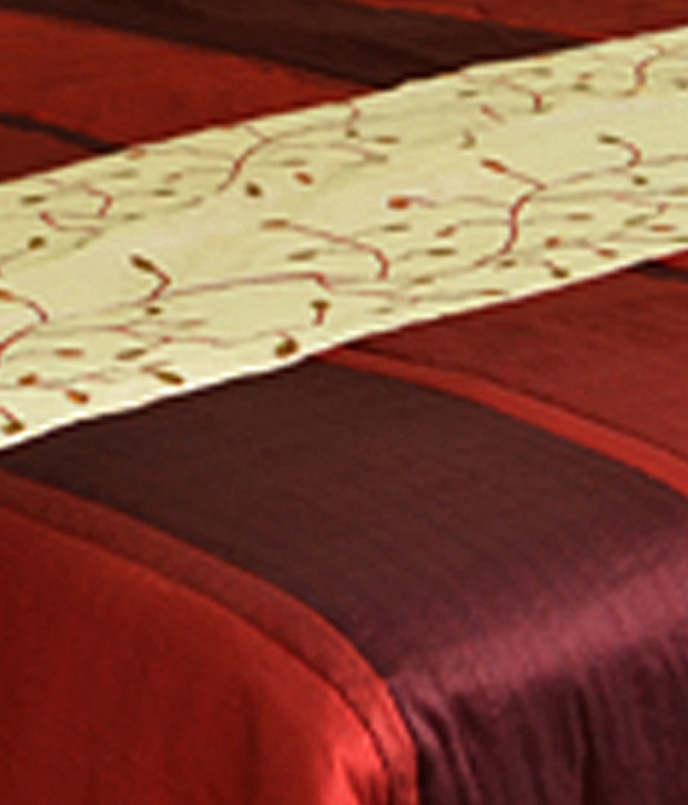 MeSleep Maroon Bed Cover