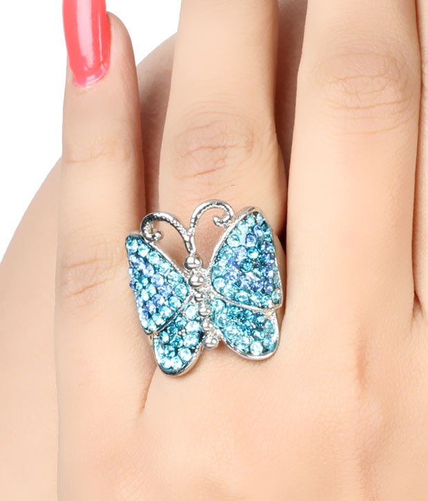 Pari Blue Butterfly Ring