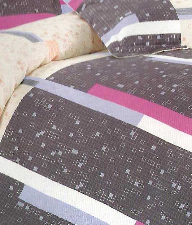 Sweet Dreams Light Purple & Peach Double Bed Sheet