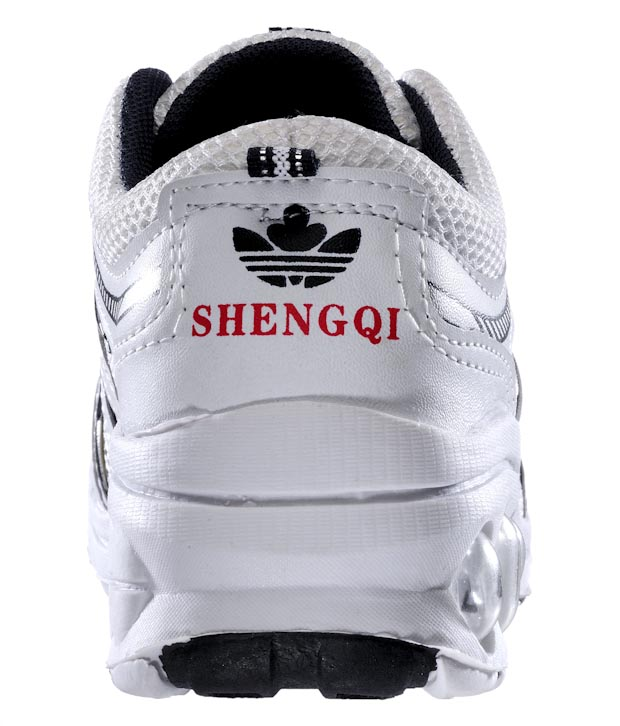 Universal Active White & Black Running Shoes