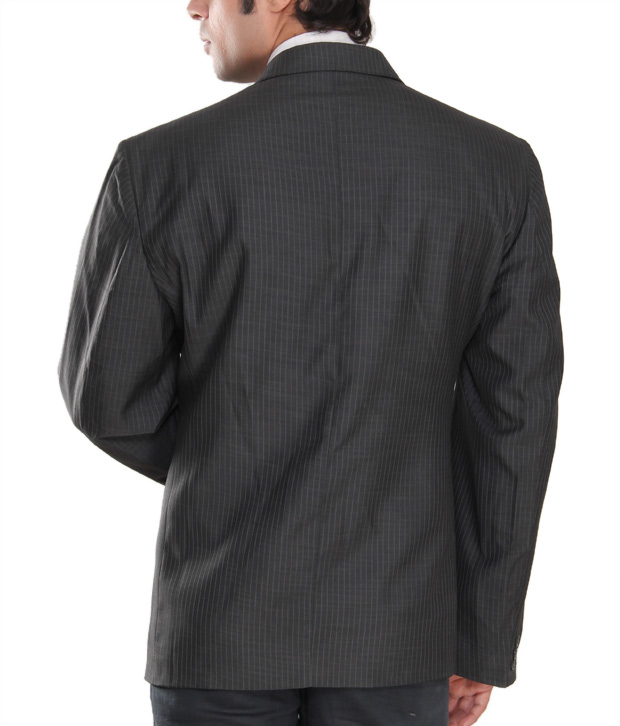 Westlife Stylish Dark Grey Men's Blazer
