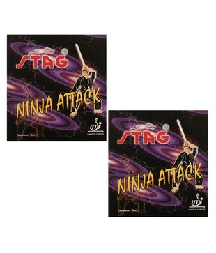 2 Stag Ninja Attack Table Tennis  Rubbers