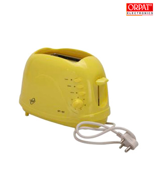 Orpat OPT-1057 Pop Up Toaster (Yellow)