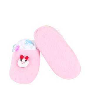 Isabelle Pink Teddy Infant Booties Pack of 2 For Kids