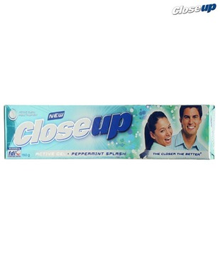 Closeup Peppermint Splash Active Gel 150G_Discontinued