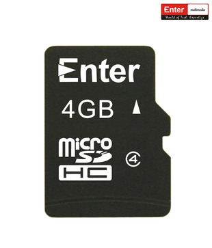Enter 4 GB Micro SD Card (Class 4)