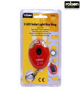 Rolson Two Led Solar Key Ring Torch