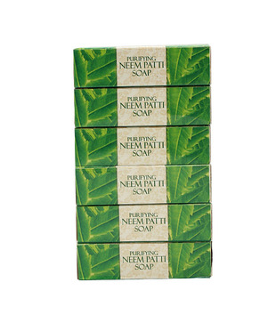 Vaadi Herbals Super Value Pack of 6 Neem Patti Soap - Contains Pure Neem Leaves (5 + 1 FREE)