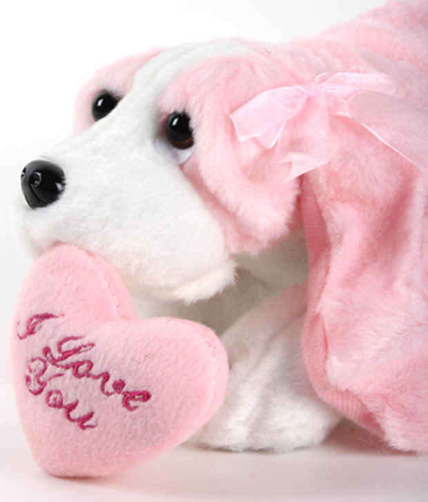 Play-n-Pets Cute Dog With Heart Soft Toy