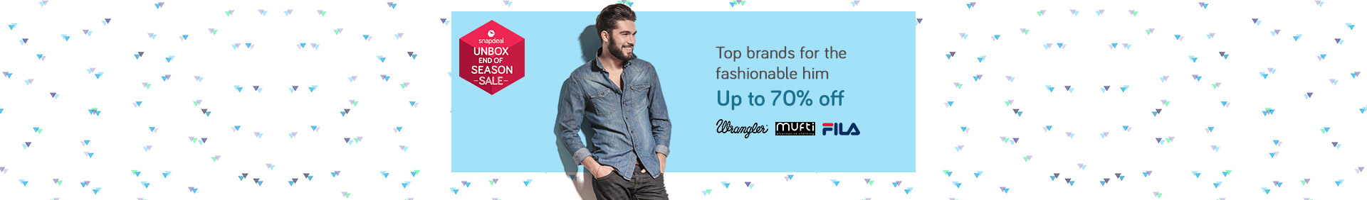 Snapdeal: Men's Fashion – Up To 70% OFF on Top Brands