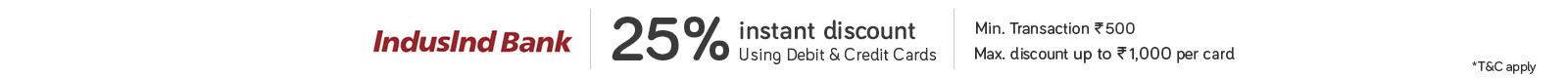 Snapdeal IndusInd Bank Debit Credit Card Offer