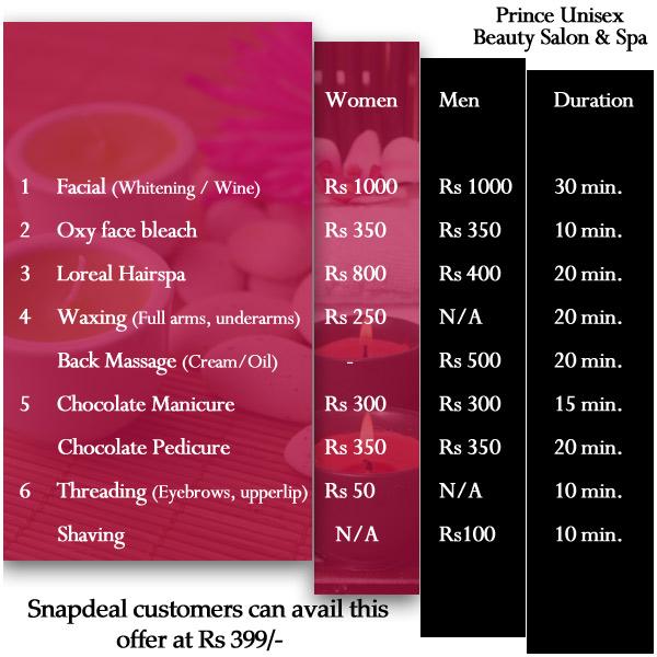 Naturals Beauty Parlour Facial Price List