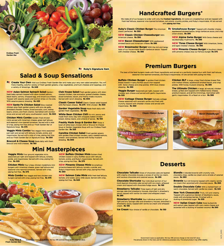 graphic regarding Ruby Tuesday Printable Menu called Ruby tuesday menu printable - Sheboygan pizza ranch